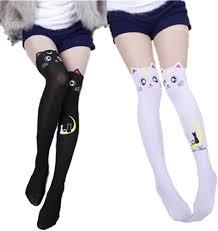 GK-O 2 Pairs Anime Sailor Moon Luna Cat Printing ... - Amazon.com