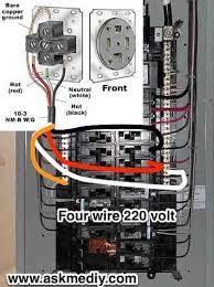 how to install a 220 volt 4 wire outlet outlets and electrical Breaker Panel Wiring Diagram how to install a 220 volt 4 wire outlet outlets and electrical wiring circuit breaker panel wiring diagram