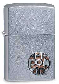 <b>Зажигалка ZIPPO Button с</b> покрытием Street Chrome™, латунь ...