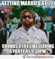 Getting married young, funny image via Relatably.com
