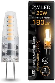 <b>Gauss</b> A + <b>LED</b> Lights Resin <b>G4</b> 2 Watt Transparent AL207707102 ...