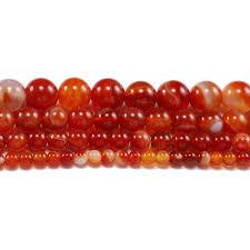 <b>1strand</b>/<b>lot</b> 4 <b>6 8 10</b> 12 mm Red Carnelian Agates Round Gem ...