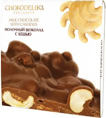 <b>Шоколад молочный</b> с кешью <b>Chokodelika</b>, 160 г — купить в ...