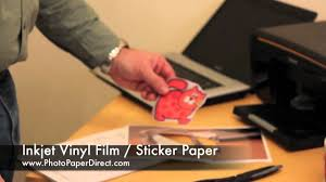 <b>Inkjet</b> Vinyl <b>Film</b> / <b>Sticker</b> Paper By Photo Paper Direct - YouTube