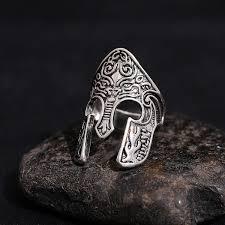 Fashion Popular Men's Gothic <b>Spartan</b> Warrior Helmet Ring <b>316L</b> ...