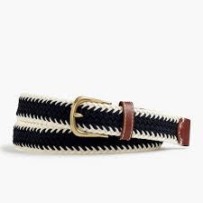 Elastic Woven Belt In Stripe - J.Crew