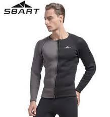 <b>SBART</b> 3MM Neoprene Wetsuit <b>Top Men's</b> Swimming Diving Shirt ...