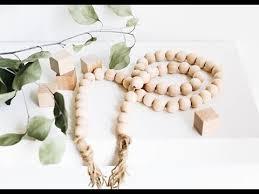 DIY <b>Wooden Bead</b> and Tassel Garland Tutorial - YouTube