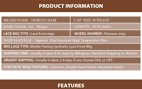 DOROSY HAIR <b>High Temperature</b> Fiber Synthetic <b>Lace Front</b> Wig ...