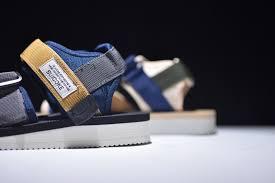 SUICOKE Vibram <b>Mens</b>-Womens Dark Blue/Khaki <b>Summer Sandals</b> ...