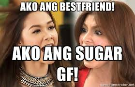 ako ang bestfriend! ako ang sugar gf! - the legal wife | Meme ... via Relatably.com