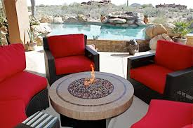 outdoor firepit table set patio furniture dining