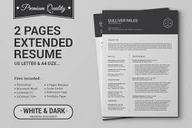 2 pages resume cv extended pack resume templates on creative 2 pages resume cv extended pack resume templates on creative market