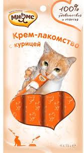 Мнямс Крем-<b>лакомство для кошек</b> с курицей 15 г х 4 шт.