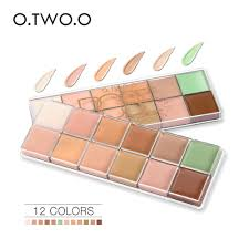 O.TWO.O <b>12 Colors Palette</b> Concealer Face Contouring Makeup ...