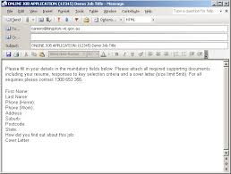 formal job application email