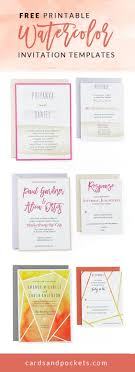 17 best ideas about invitation templates wedding invitation templates diy watercolor wedding invitations these printable templates