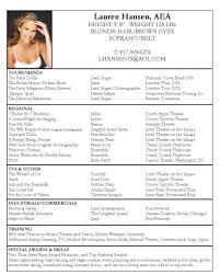 acting resume samples