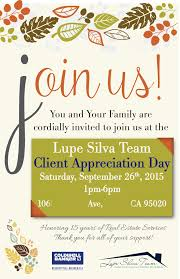 lupe silva team client appreciation party front invite client lupe silva team client appreciation party front invite