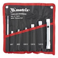 Набор <b>ключей</b>-трубок <b>MATRIX</b> 13719, <b>торцевых</b> 7 шт. — купить в ...