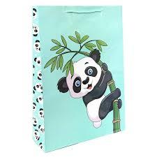 <b>Пакет подарочный бумажный Pioneer</b> Крошка панда, 33x45x10 см