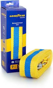 <b>Трос</b> буксировочный <b>Goodyear</b>, GY004002, желтый, <b>7 т</b>, <b>5 м</b> ...