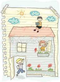 Risultati immagini per scarabocchi bambini casa