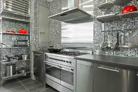 kitchen backsplash stainless steel tiles: silver grey kitchen decoration using black white glass mosaic tile metal kitchen backsplash including