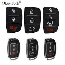 Okeytech 3 Buttons Remote Modified Flip Silica <b>Car Key Shell For</b> ...