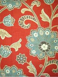decor linen fabric multiuse: ankara scarletpindler amp pindler bellington scarlet fabric linen rayon jacobean floral fabric multi purpose for drapery light upholstery or top of the
