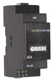 АС4 преобразователь интерфейсов <b>RS-485</b> <-> <b>USB</b> c ...