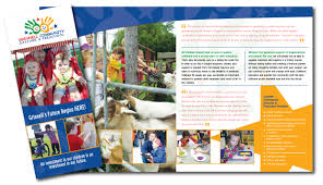 brochures by angela schultz at com grinnell community daycare preschool campaign brochure seeking to entice potential donors the grinnell community daycare and preschool asked me to