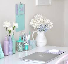 chic work desk love the pastel colors chic mint teal office
