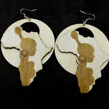 Wholesale- <b>5pairs lot 2017 Newest</b> African Girl Wooden earrings