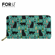 <b>FORUDESIGNS</b> 2018 New <b>Women's Leather Long Wallet</b> Cat ...
