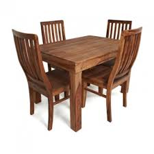 4 chair kitchen table: agra sheesham wood dining table and  chairs set