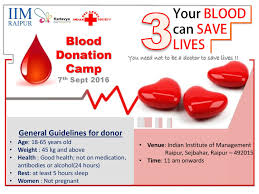 the capital post blood donation camp by kartavya csr club of iim raipur in association red cross society