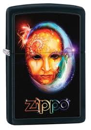 <b>Зажигалка ZIPPO Venetian Mask</b>, латунь с покрытием Black Matte ...