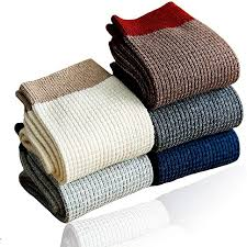 <b>Men's 100</b>% <b>Cotton Knitted</b> Socks for Working and Casual &Mens ...