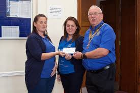 rotary club of blackpool palatine home page headway cheque presentation