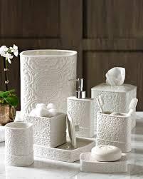 bathroom accessories set personalized potty training amazoncom kassatex fine linens trump bedminister damask bath