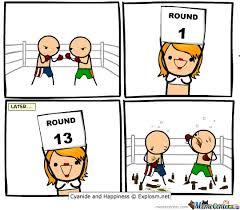 Round 1... by Alice - Meme Center via Relatably.com