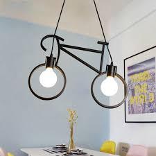 <b>Retro Nordic Modern</b> Iron <b>Bicycle</b> Pendant Lamps Cafe Lighting LED