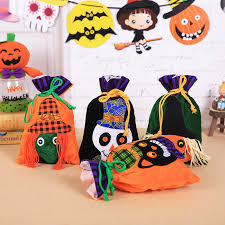 <b>Halloween</b> Decoration Candy Bag <b>Velvet Gift</b> Bag Bundle Bag Cat ...