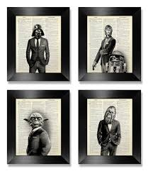 office wall art set of prints star wars art print set dictionary art print art for the office wall