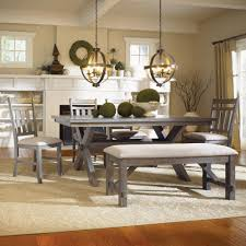 Grey Dining Room Table Sets Dining Rooms Benches And Table With Bench On Pinterest