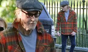 The Kinks frontman <b>Ray Davies</b>, 75, looks typically cool in tartan shirt