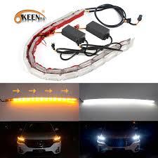 OKEEN <b>2pcs Waterproof</b> Flexible LED Strips Lights DRL Daytime ...