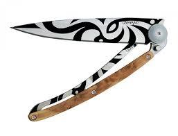 <b>Deejo Нож Deejo Tattoo</b> 37g, Maori <b>складной</b> – купить в магазине ...