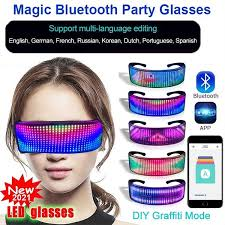 Magic <b>Bluetooth LED</b> Party Glasses APP Control Bar DJ <b>Luminous</b> ...